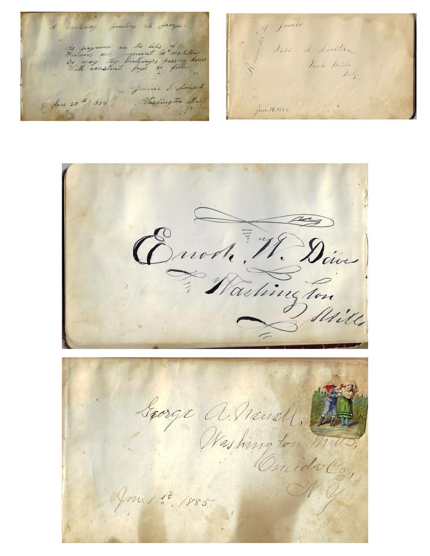 Autograph Book collage pak instant download 8 pages