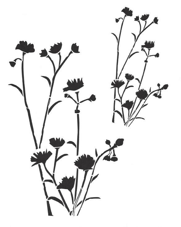 Wildflower Stencil 12x16