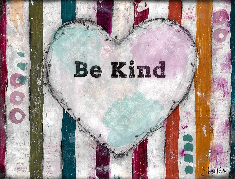 Be Kind, heart digital instant download