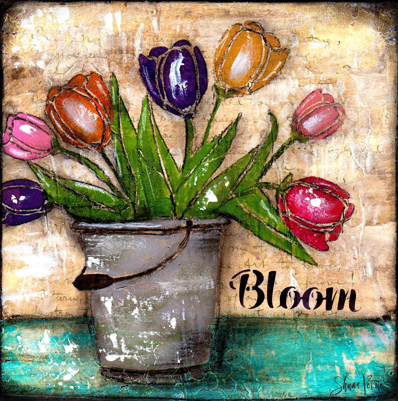 Bloom Tulips, digital instant download