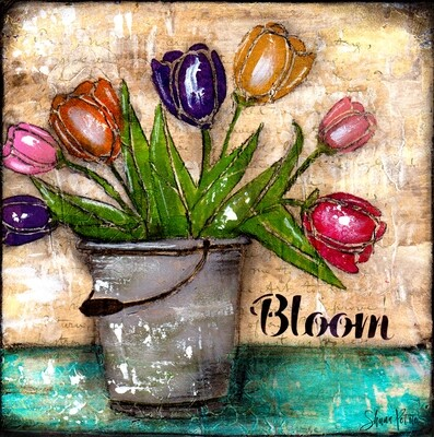 Bloom Tulips, digital instant download