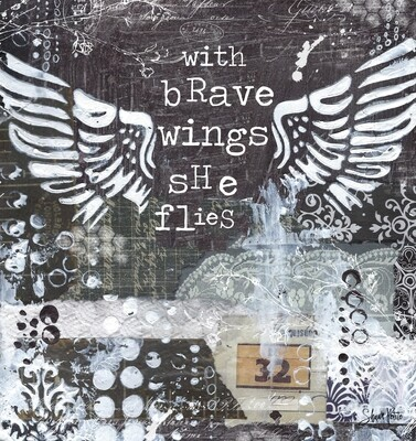 Brave wings she flies, digital instant download