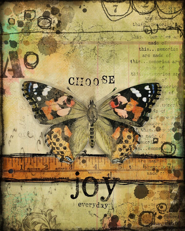 Butterfly Series Choose Joy digital instant download