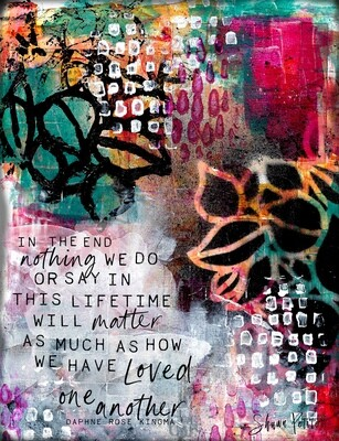 """""""Loved one another"""" Print on Wood and Print to be Framed"""