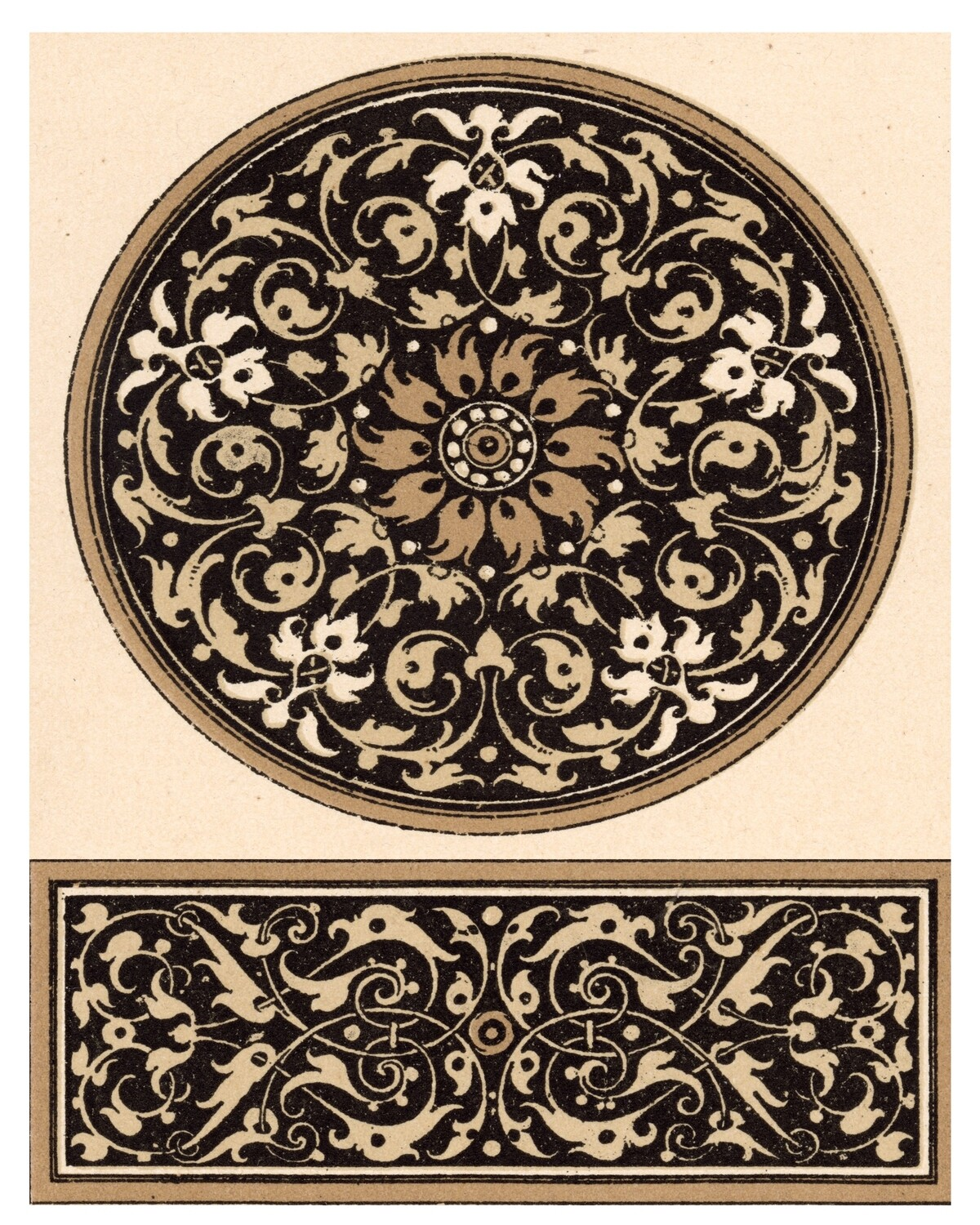 Muted Ornate Patterns collage pak ***PRINTED VERSION*** 5 pages