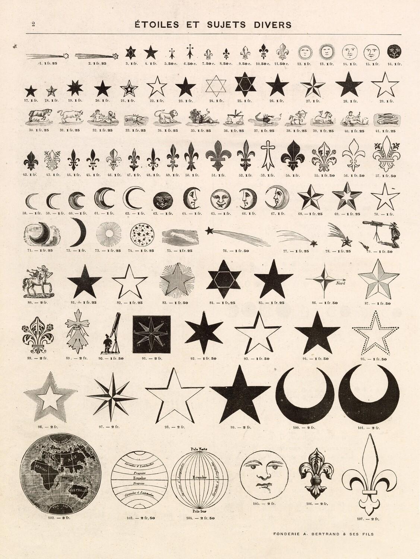 Vintage Symbols and Elements collage pak instant download 10 pages