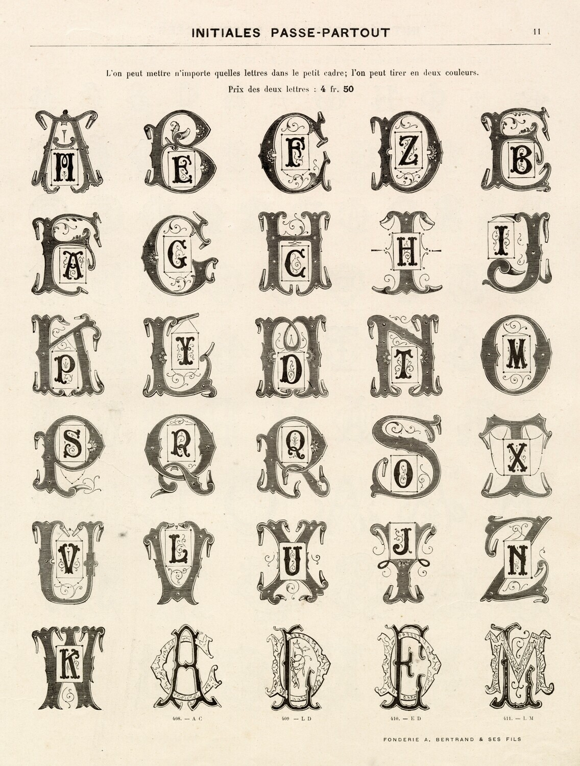 Ornate Alphabet collage pak instant download 6 pages