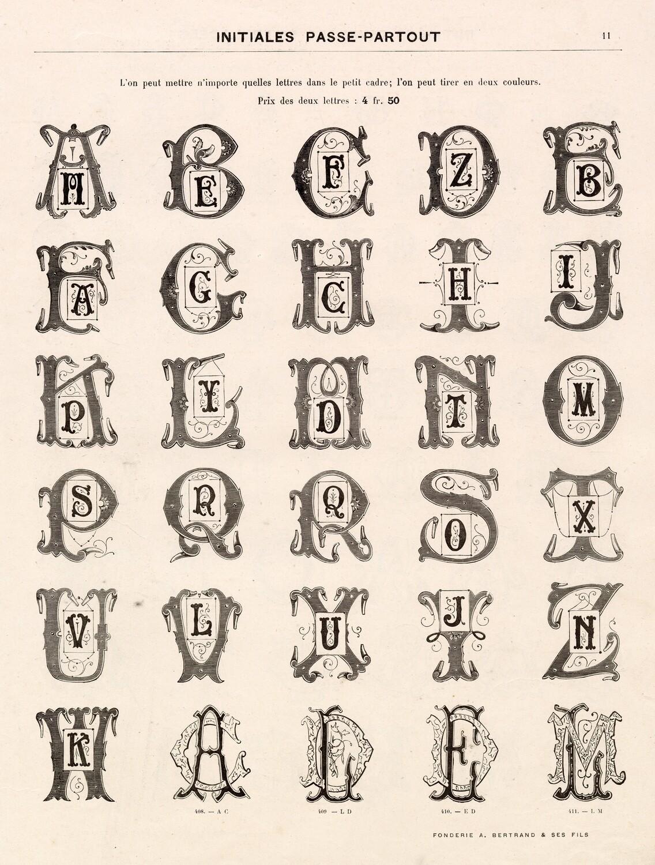 Ornate Alphabet collage pak ***Printed Version*** 6 pages