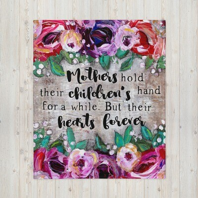 Mother's hold their childrens hand Throw Blanket