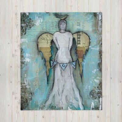 Joy Angel Throw Blanket