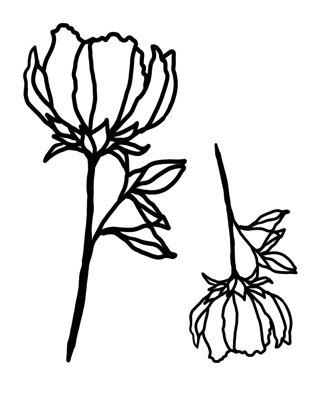 Flower Mask 3 stencil 8x10
