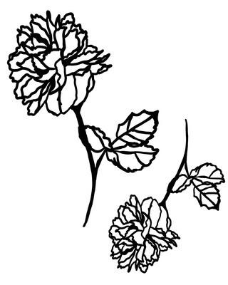 Flower Mask 2 stencil 12x16