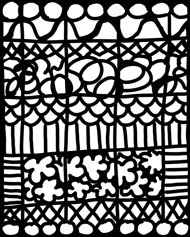 Graphics 2 mask stencil 8x10