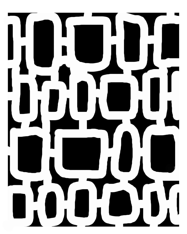 Retro Pattern 3 stencil 8x10