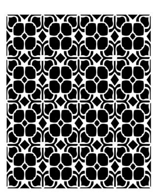 Retro Pattern 5 stencil 8x10
