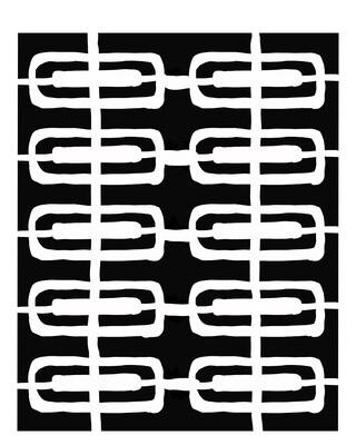 Retro Pattern 4 stencil 8x10