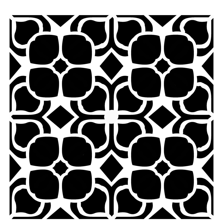 Retro Pattern 5 stencil 12x12