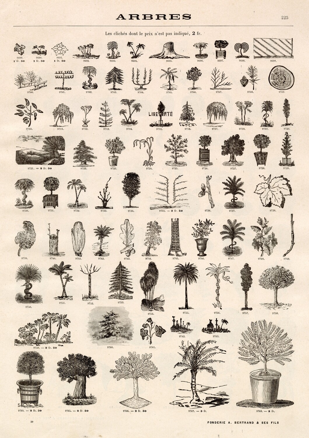 Tree Drawings collage pak ***PRINTED VERSION*** 10 pages