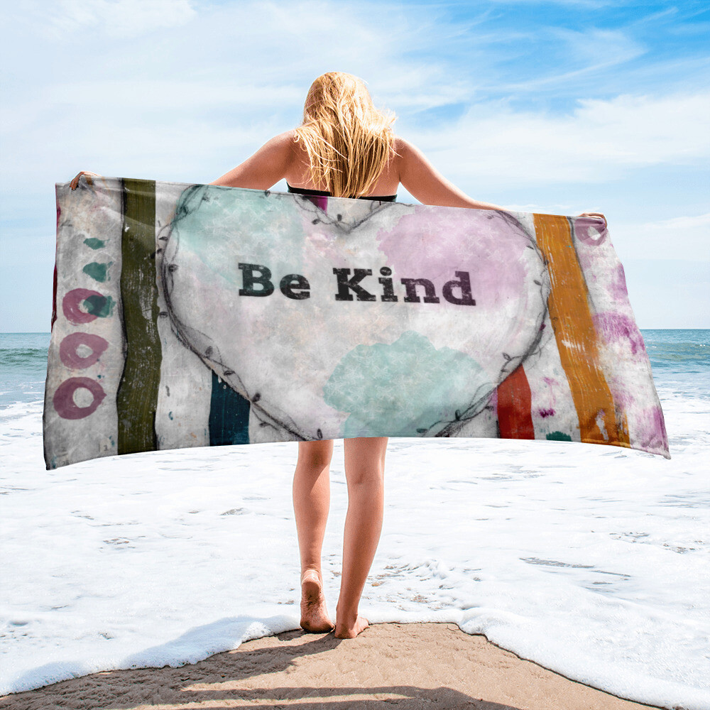 Be Kind Beach Towel