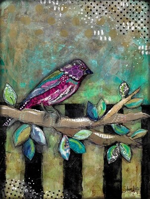 """""""Feathered Friends Bold Bird"""" Print on Wood and Print to be Framed"""
