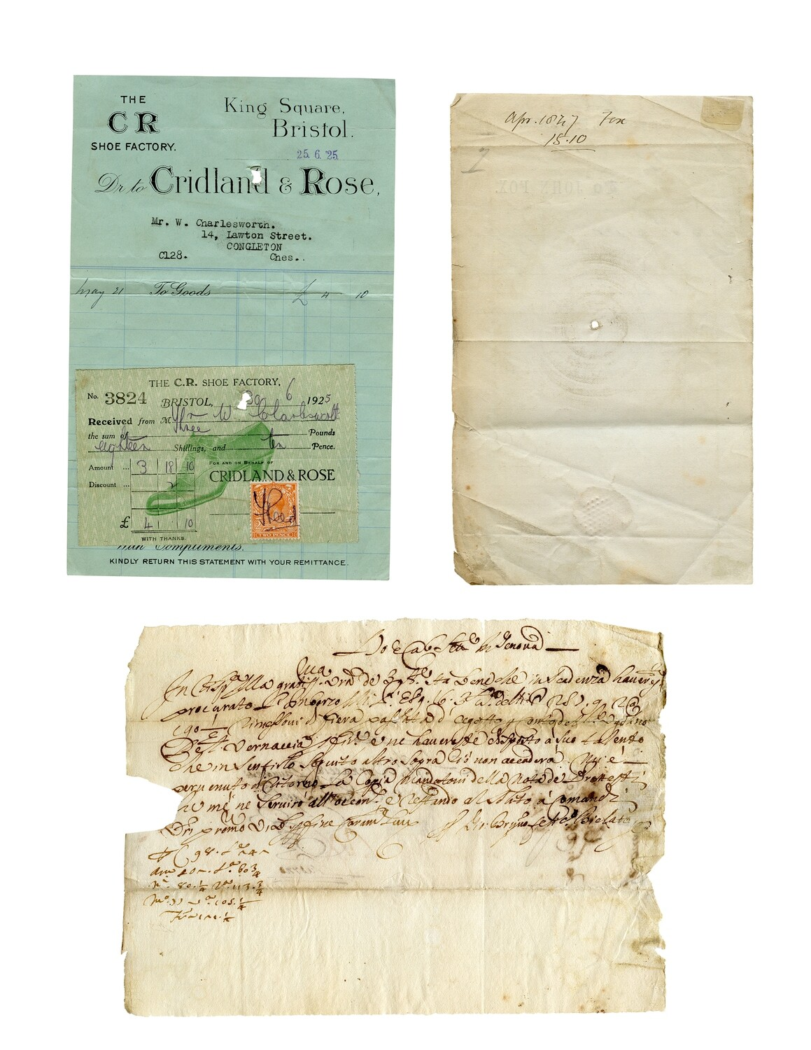 19th Century Documents collage pak instant download 5 pages