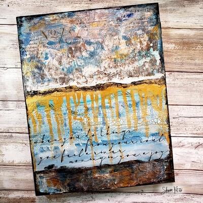 """""""A River Moving"""", mixed media original 11x14"""