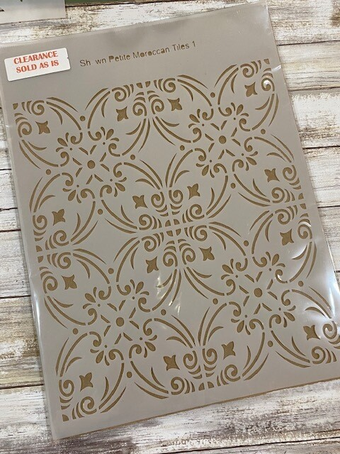 Moroccan Tile 1 stencil clearance 12x16