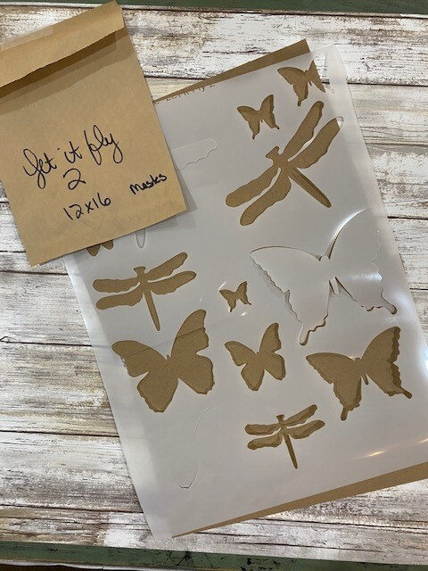 Let It Fly 2 stencil clearance 12x16