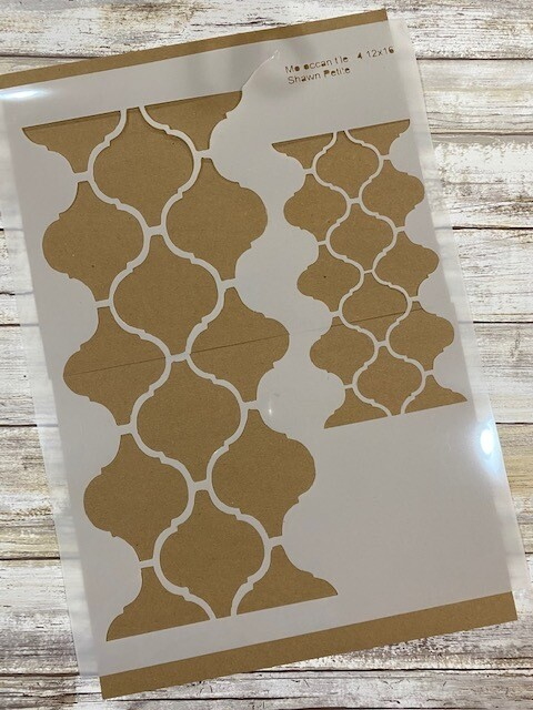 Moroccan Tile 4 stencil clearance 12x16
