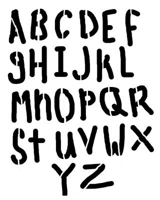 Childish Font stencil 8x10
