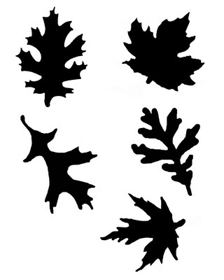 Fall leaves large with masks stencil 8x10