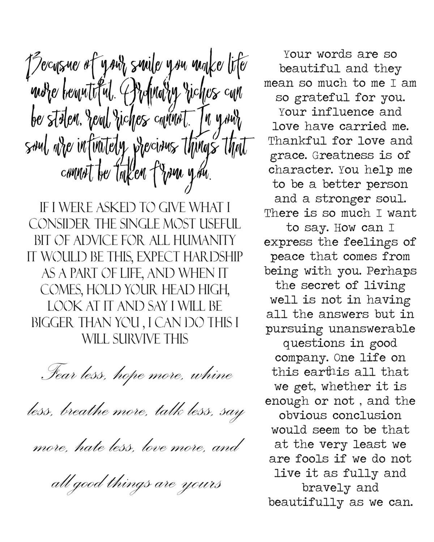 Background Words 8x10  stencil