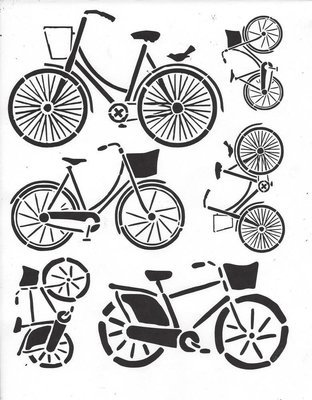 Bicycle 55 8x10 Stencil