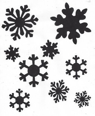 Snowflakes with masks stencil 12x16