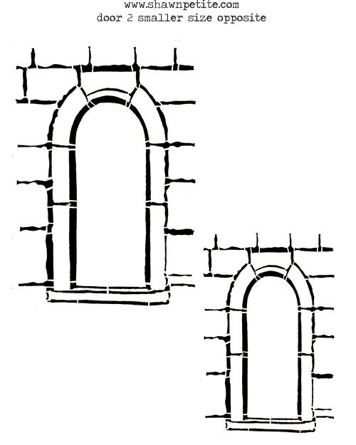 Door 2 smaller inverted 8x10 stencil