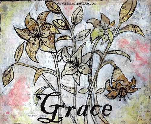 Grace collage pak for Sunday Inspiration 4-16-17 Instant Download 6 pages