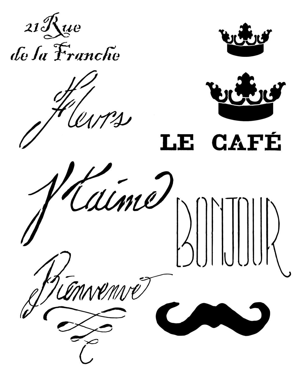 Paris 2 Stencil 12x16