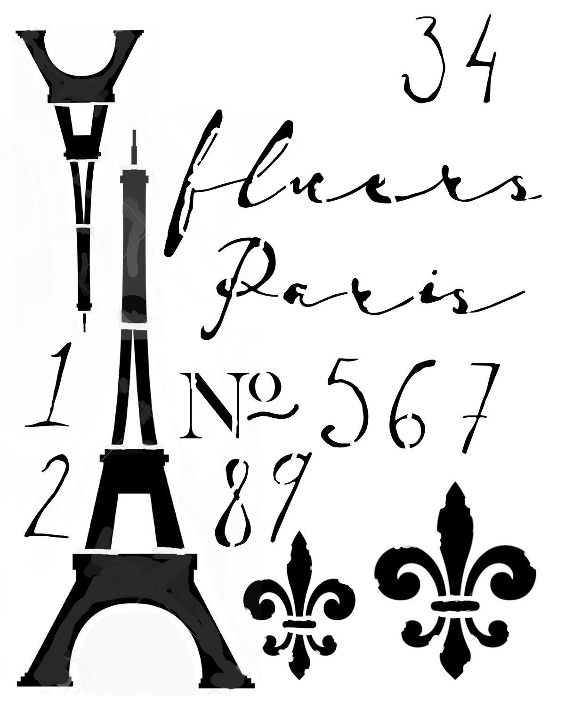 Paris Stencil 8x10
