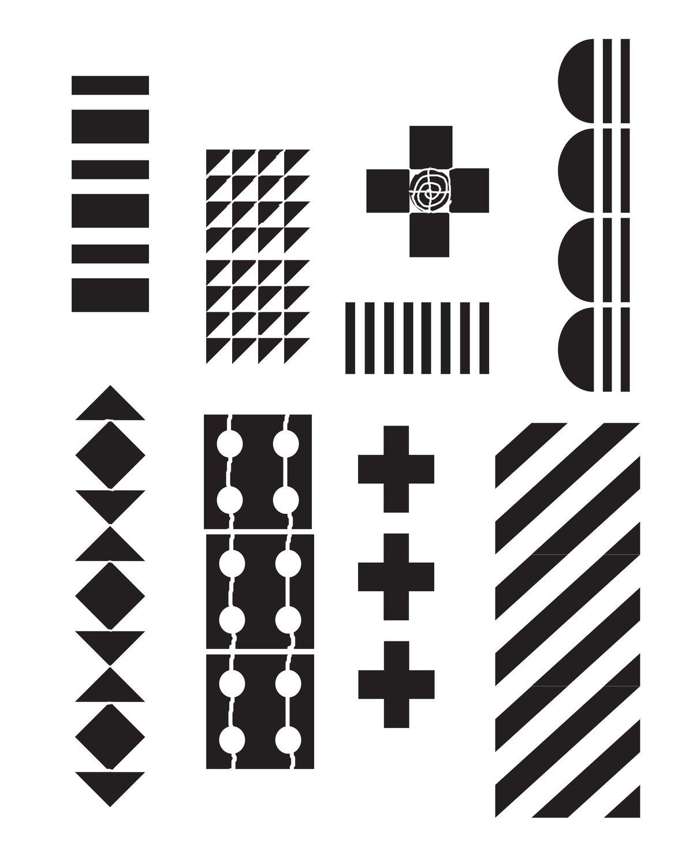 Pattern 1 Stencil 8x10