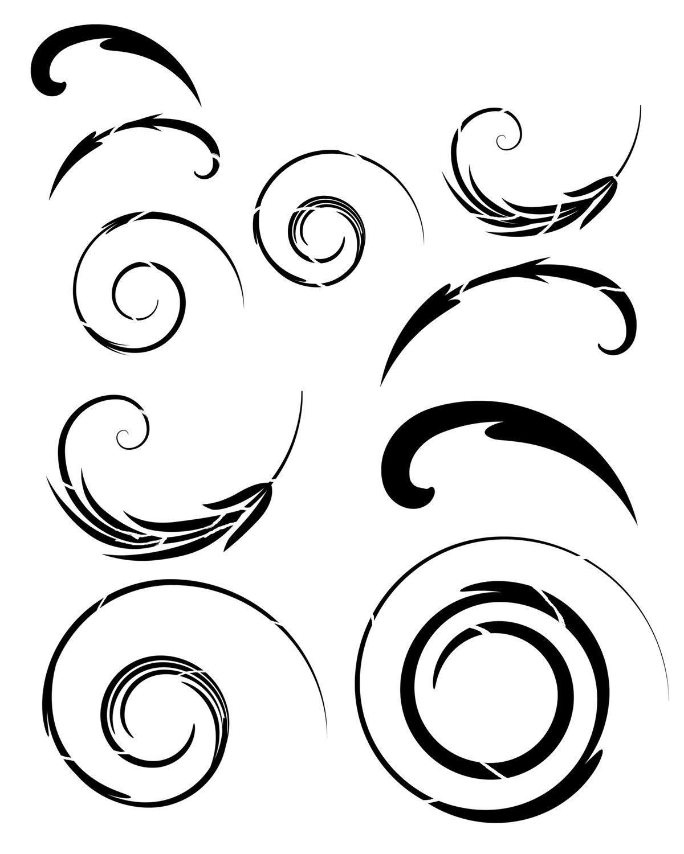Swirls stencil 8x10