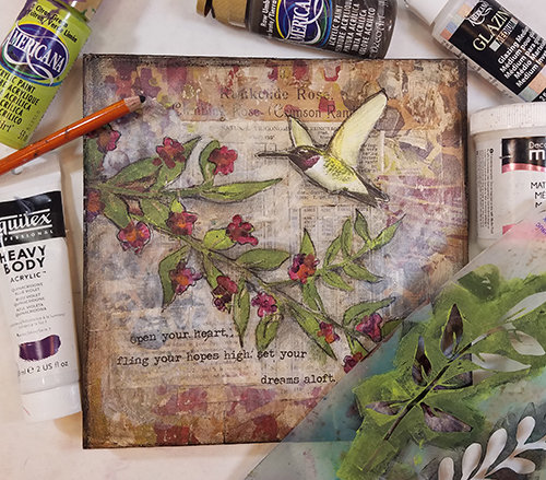 Hummingbird collage pak for Sunday Inspiration 7-23-17 ***PRINTED VERSION*** 7 pages