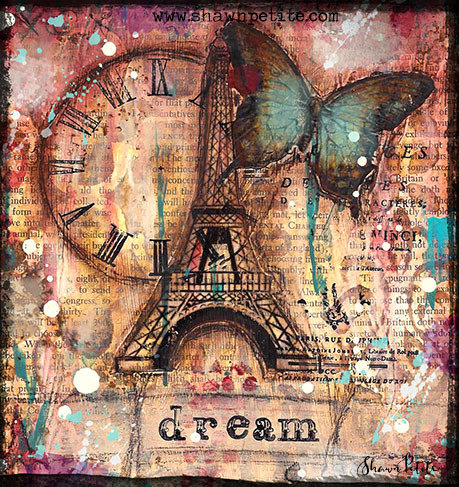 """Dream"" Eiffel Tower Print on Wood and Print to be Framed"