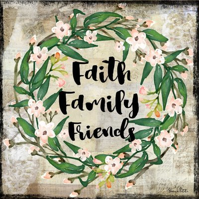 """""""Faith, Family, Friend"""" Print on Wood and Print to be Framed"""