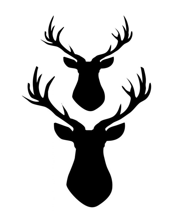 2 Deer stencil 8x10