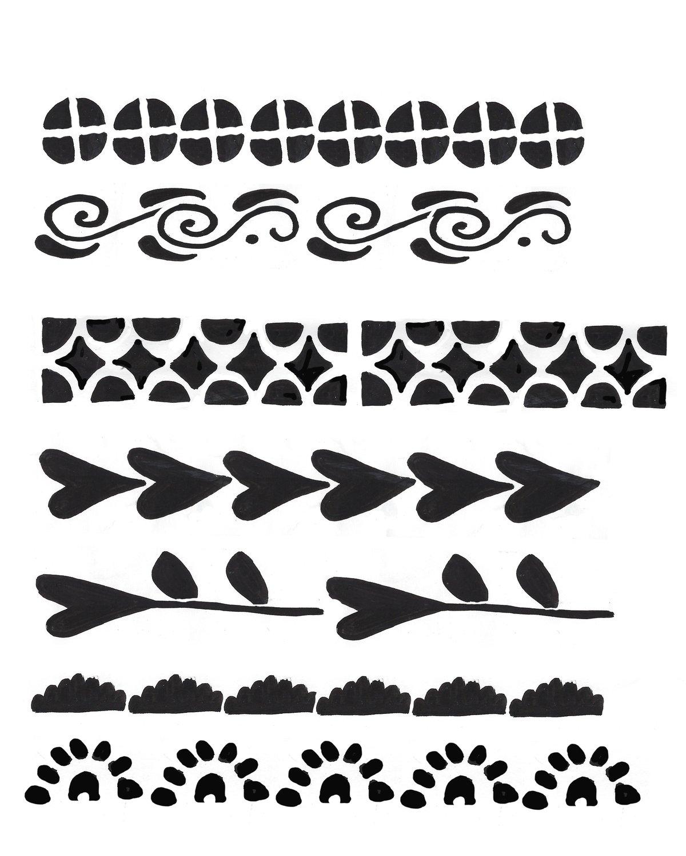 Borders 8x10 stencil