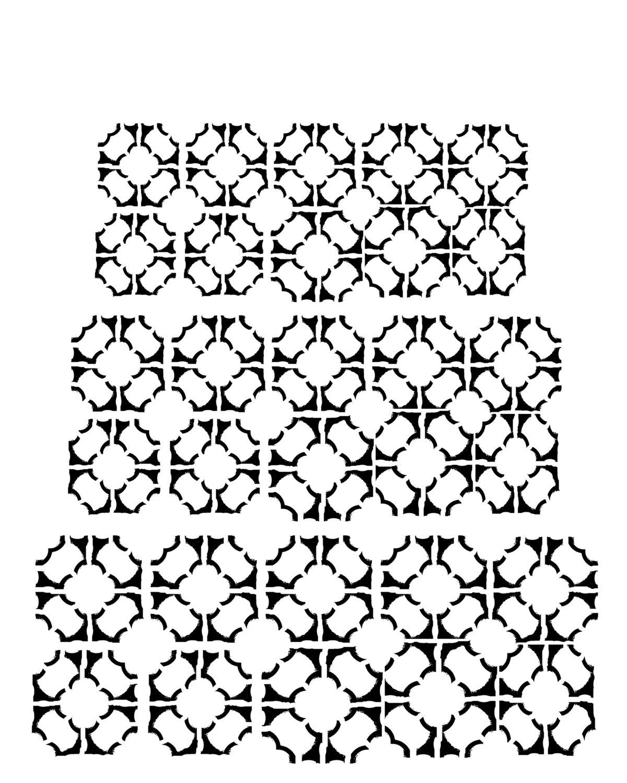Tiles stencil 8x10
