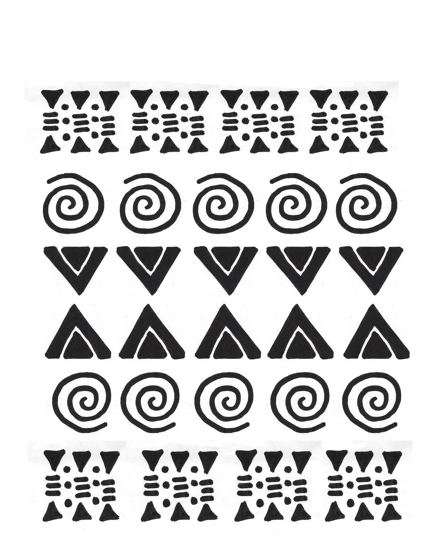 Tribal stencil 8x10
