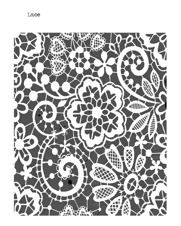 Lace stencil 8x10
