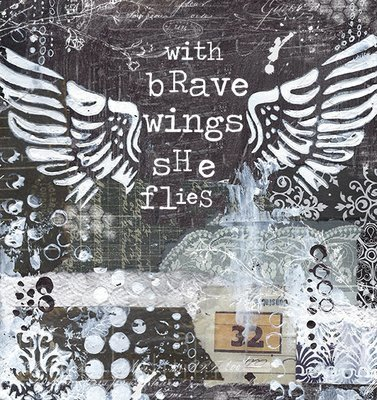 """""""With brave wings, she Flies"""" Print on Wood and Print to be Framed"""