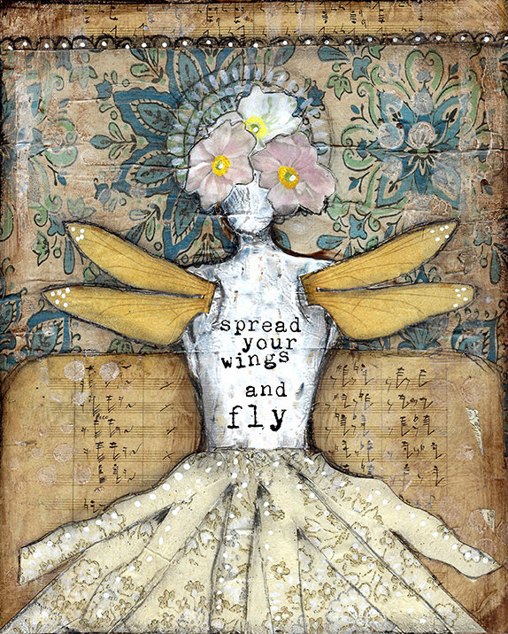 """""""Spread your wings and Fly"""" Print on Wood and Print to be Framed"""